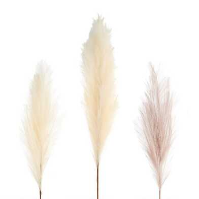 Faux Pampas Grass Stem Set of 2