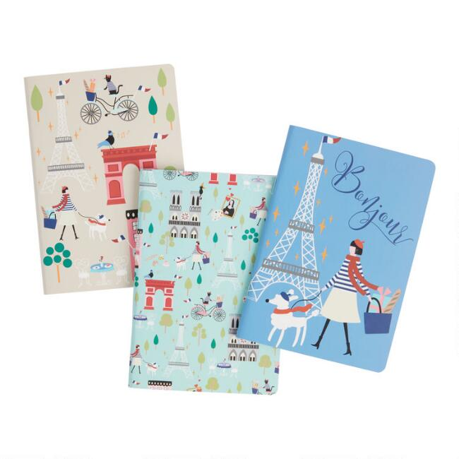 Mini Paris Icon Journals 3 Pack
