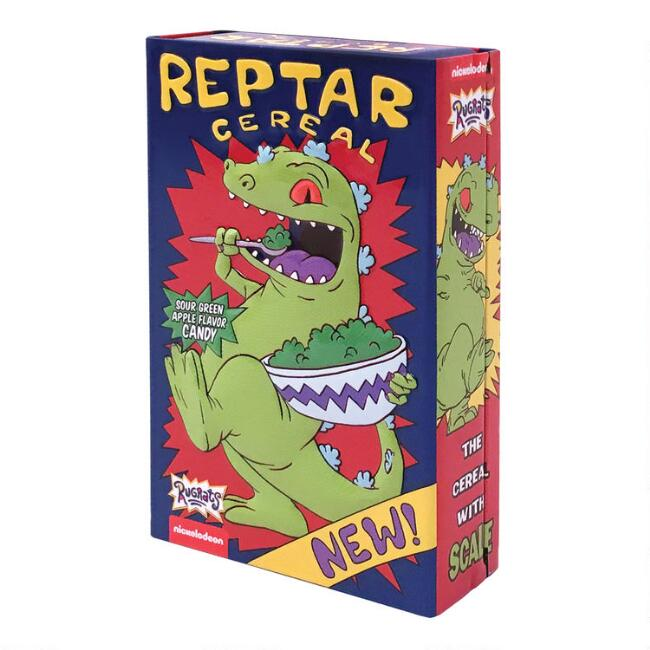 Rugrats Reptar Cereal Sour Apple Candy Tin