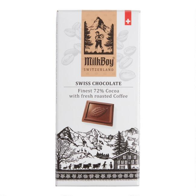Milkboy Fresh Roasted Coffee 72% Dark Chocolate Bar
