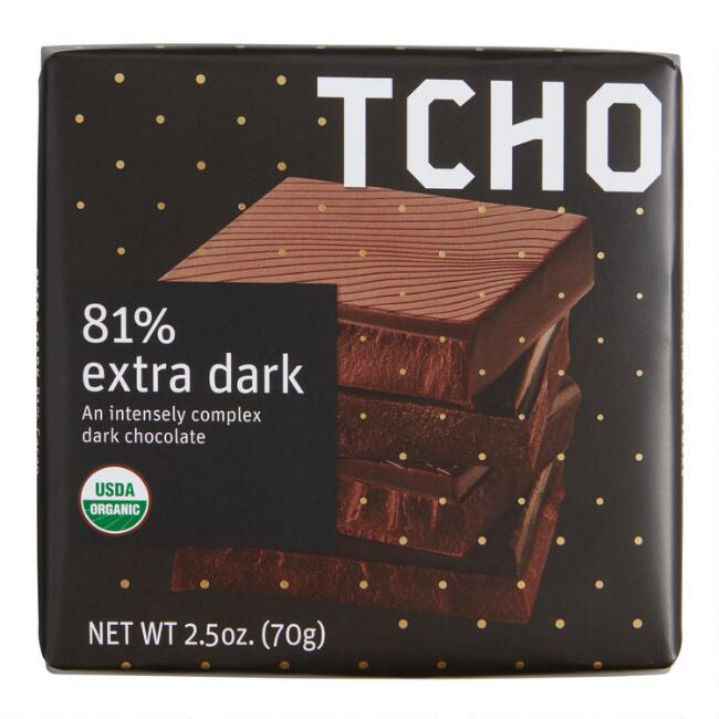 TCHO 81% Extra Dark Chocolate Bar