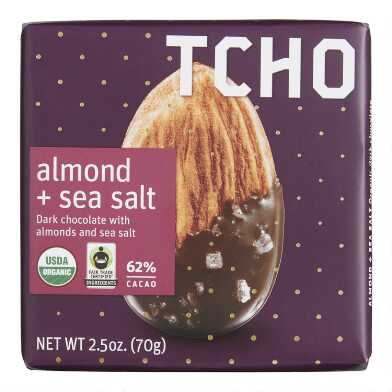 TCHO Almonds and Sea Salt Dark Chocolate Bar