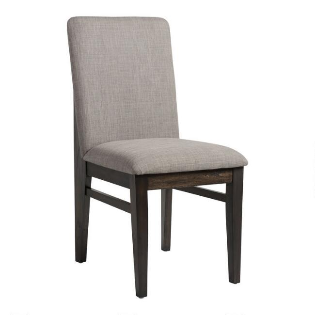 Dark Brown Pine Brenden Upholstered Dining Chairs Set of 2