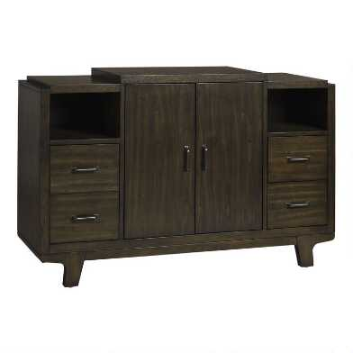 Dark Brown Pine Brenden Sideboard