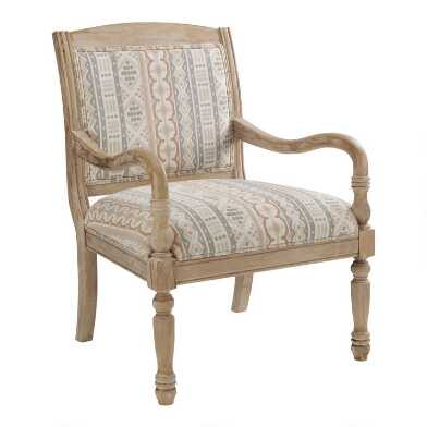 Natural Wood Bates Upholstered Chair