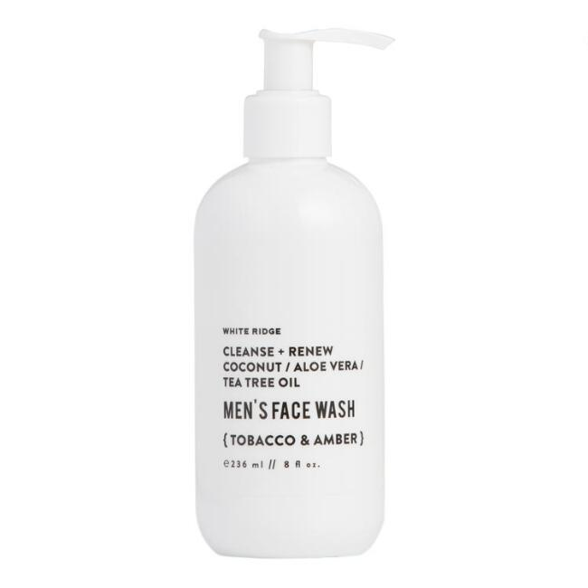 White Ridge Tobacco and Amber Men's Face Wash