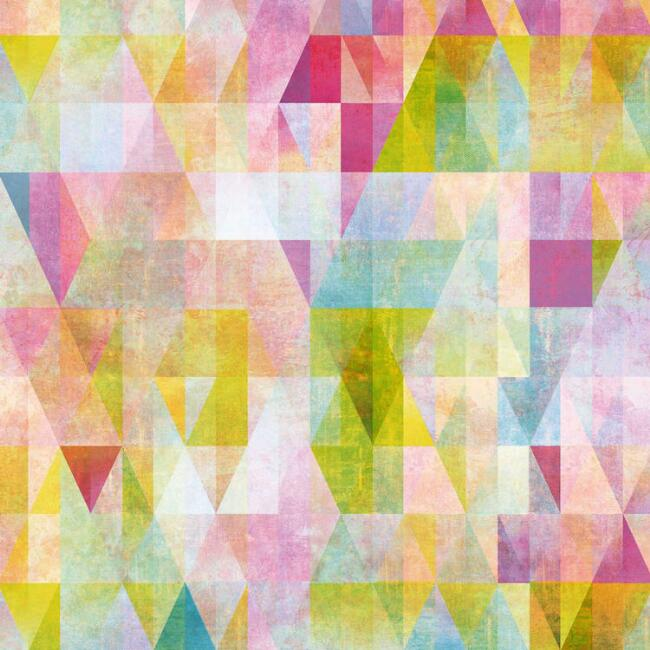 Multicolor Geo Prisms Peel And Stick Wallpaper