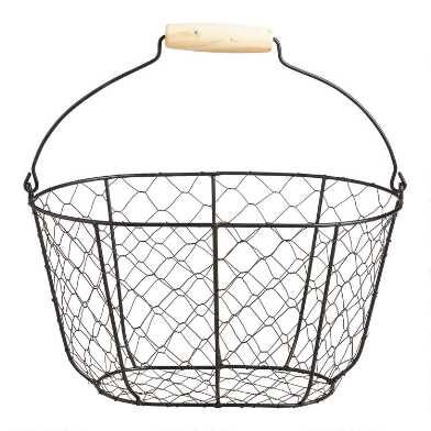 Black Wire Farmhouse Basket