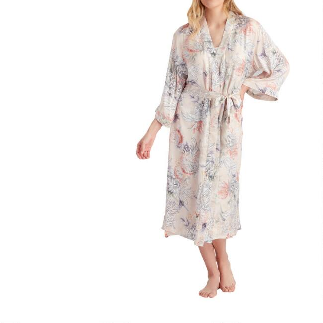 Blush Chrysanthemum Robe
