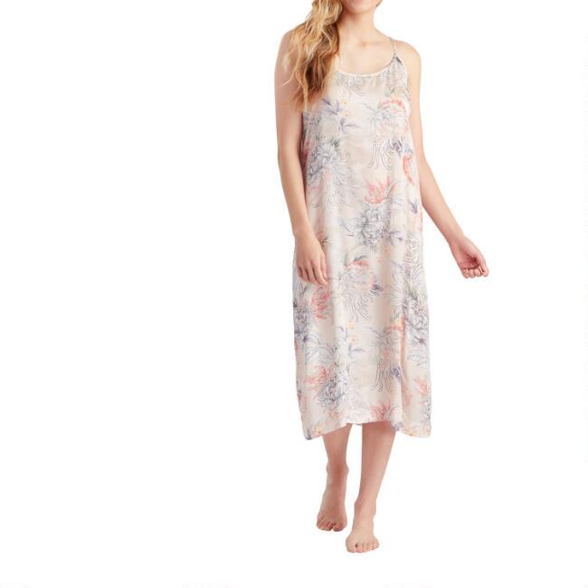 Blush Chrysanthemum Nightgown
