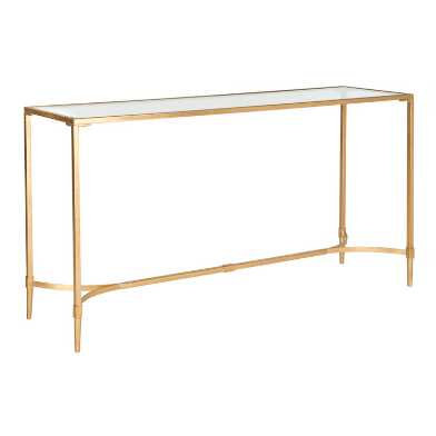 Gold Metal And Glass Nala Console Table