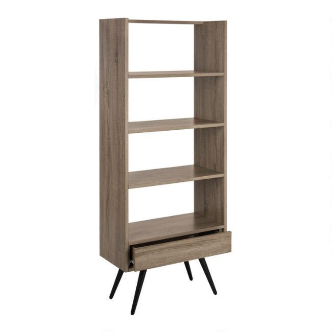 Tall Wood Mid Century Ashland Etagere