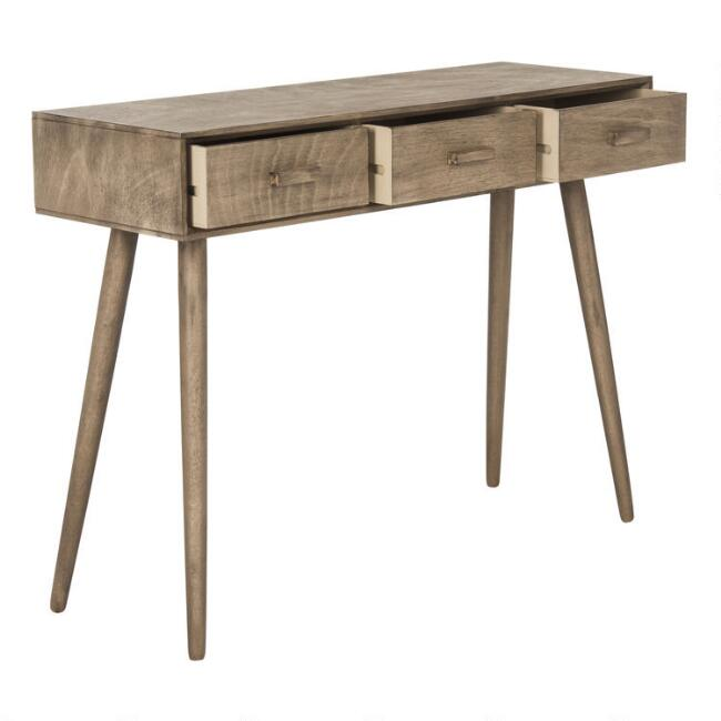 Wood Zinnia Console Table