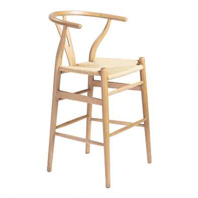 Beech Wood Wishbone Marla Counter Stool
