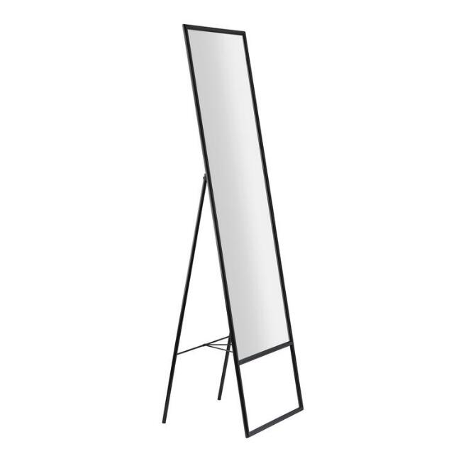 Black Metal Standing Alfred Floor Mirror