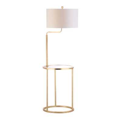 Gold and Glass Clare Floor Lamp with Table