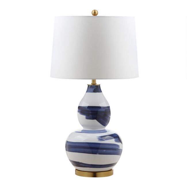 Blue and White Ceramic Frankie Table Lamp