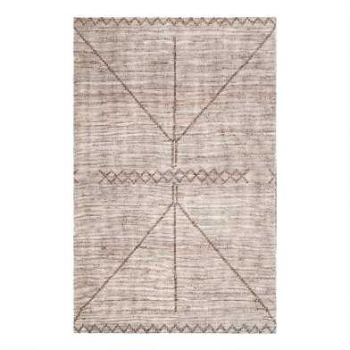 Brown Geometric Flatweave Jute Area Rug