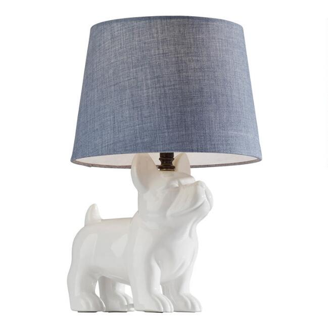 White French Bulldog Hank Accent Lamp