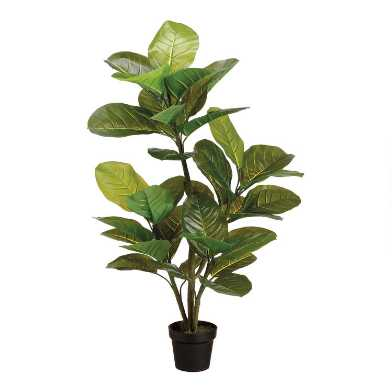 Faux Large Leaf Rubber Tree
