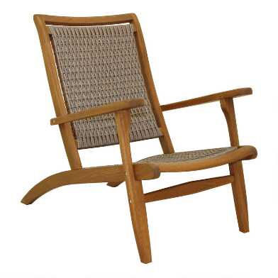 Eucalyptus and All Weather Wicker Erich Outdoor Lounge Chair