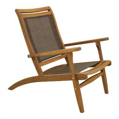 Gray All Weather Wicker Sling Erich Outdoor Lounge Chair