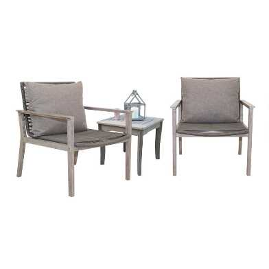 Gray Rope Loft 3 Piece Outdoor Set