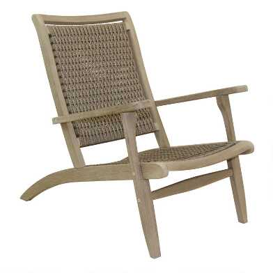 Graywash All Weather Wicker Erich Outdoor Lounge Chair