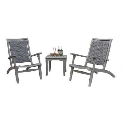Graywash All Weather Wicker Erich 3 Piece Outdoor Set