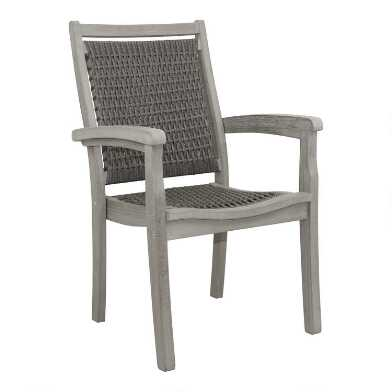 Gray All Weather Wicker Helena Outdoor Stacking Armchair