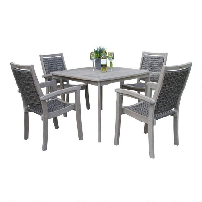 Graywash Eucalyptus Helena Outdoor Dining Collection