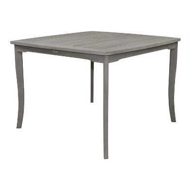 Square Gray Eucalyptus Helena Outdoor Dining Table