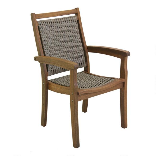 Brown All Weather Wicker Madera Outdoor Stacking Armchair