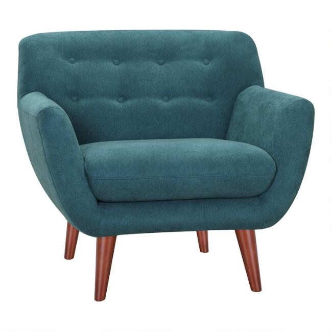 Blue Tufted Maya Upholstered Chair