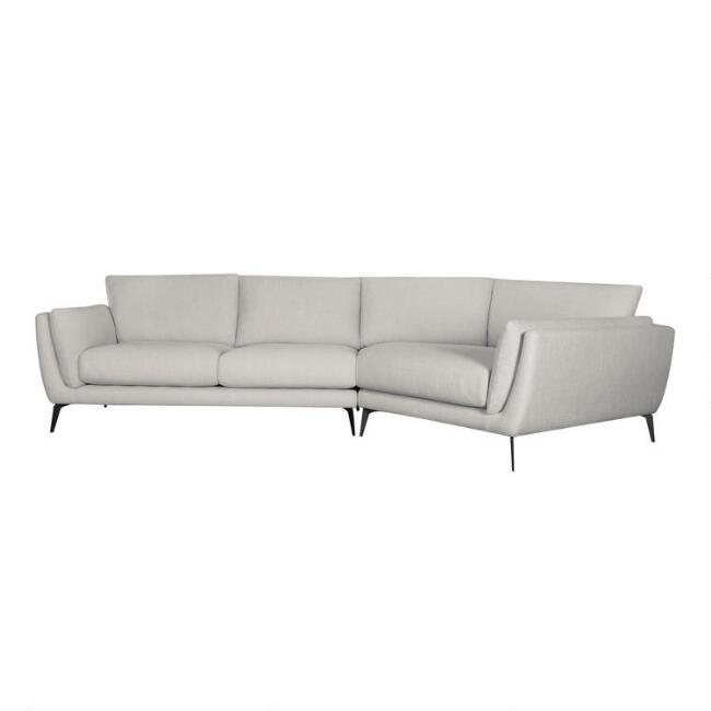 Oat Right Facing Angled 2 Piece Fletcher Sectional Sofa