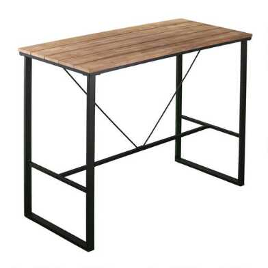 Metal and Acacia Napa Outdoor Pub Table