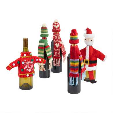 Holiday Wine Bottle Outfit Collection