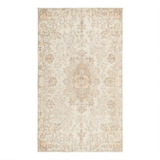 Revival Rugs Ash Gray Wool Gerdina Vintage Area Rug
