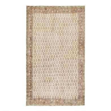 Revival Rugs Beige Wool Liesbeth Vintage Area Rug