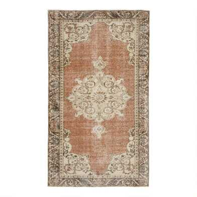 Revival Rugs Brown Wool Gastone Vintage Area Rug