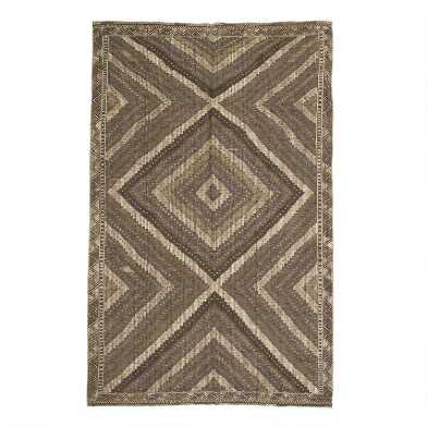 Revival Rugs Gray and Walnut Claudine Vintage Area Rug