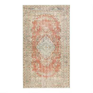 Revival Rugs Orange Wool Burton VIntage Area Rug