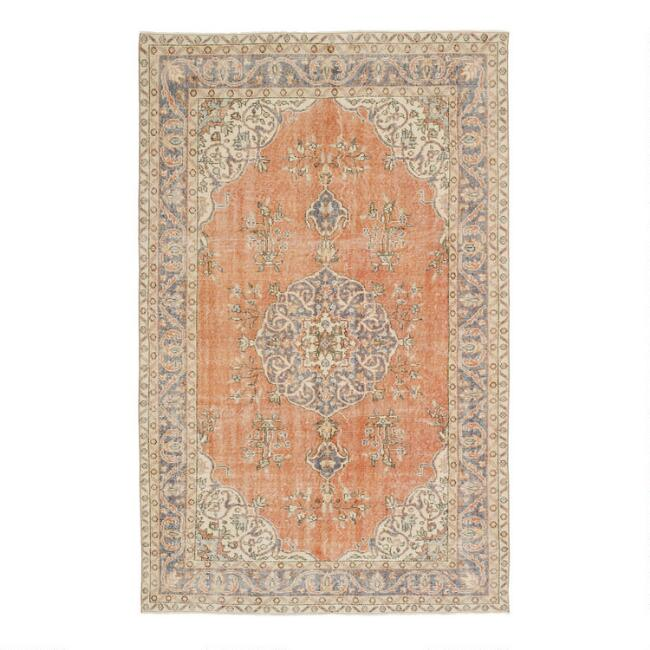 Revival Rugs Orange Wool Pietie Vintage Area Rug