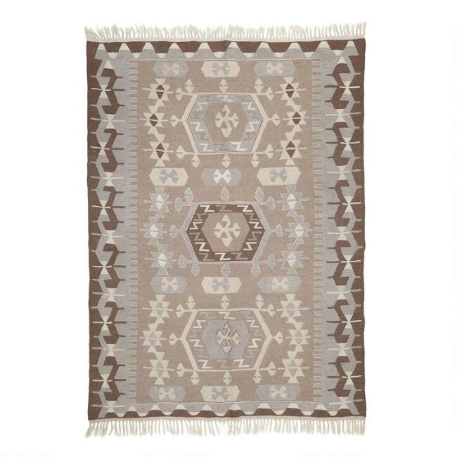 Revival Rugs Gray Wool Mucahit Vintage Area Rug