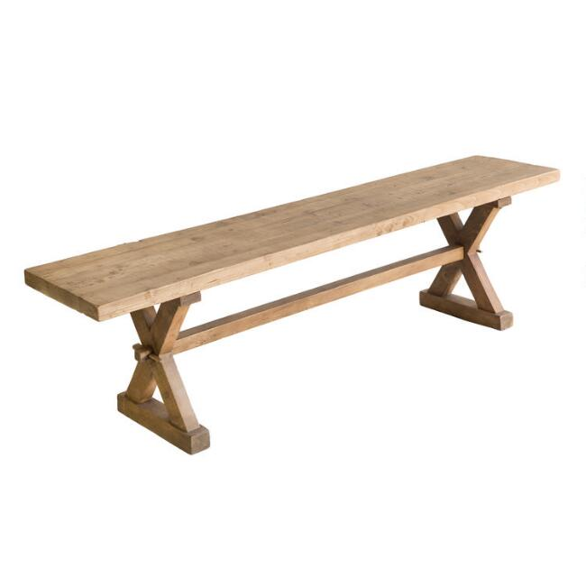 Natural Reclaimed Pine Winona Dining Bench