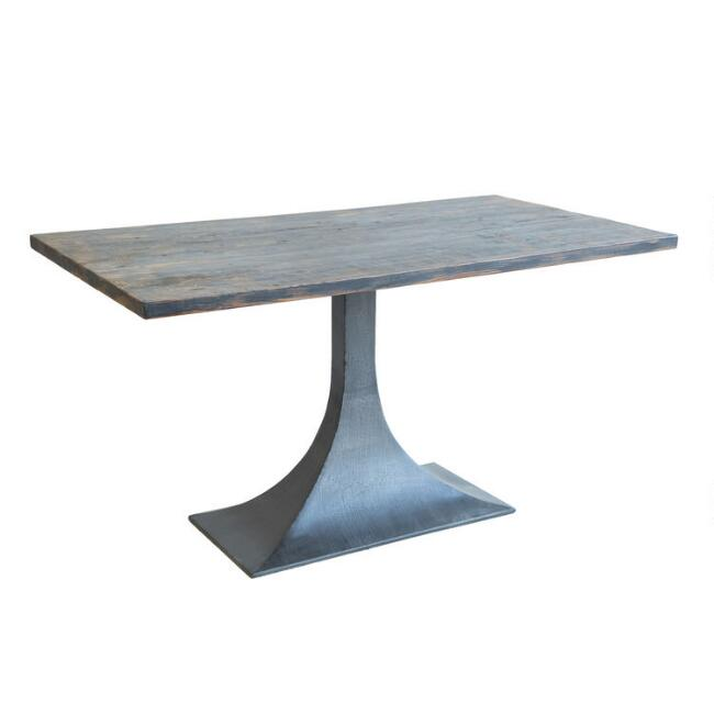 Reclaimed Pine and Black Metal Hector Dining Table