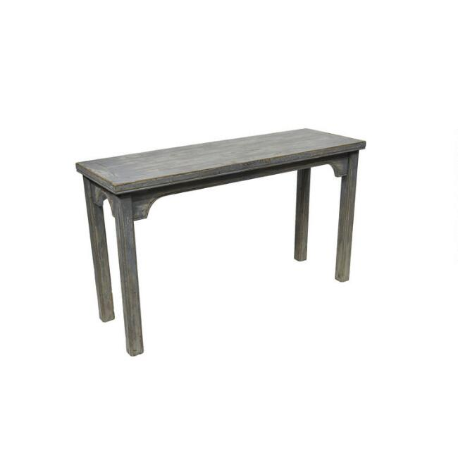 Antique Gray Blue Reclaimed Pine Reanne Console Table