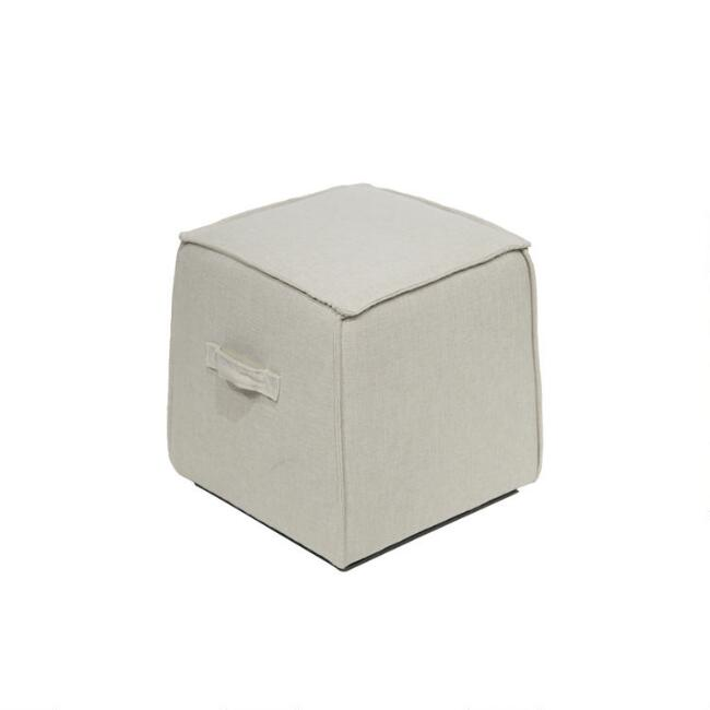 Square Sand Rylan Upholstered Ottoman