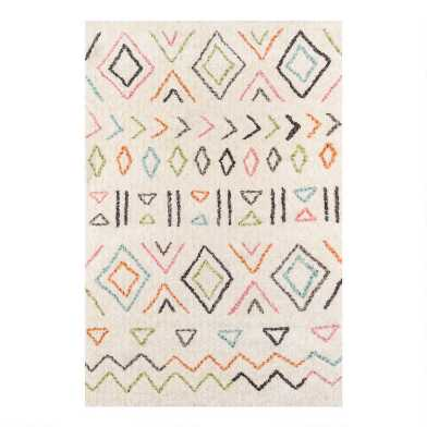 Ivory Multicolor Geometric Kaylia Area Rug