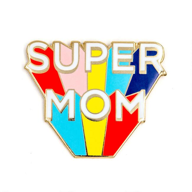 Super Mom Enamel Pin
